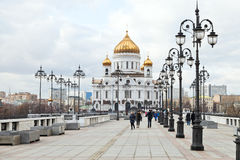 View of Cathedral of Christ the Saviour, Moscow Stock Image