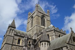 View of the cathedral church of Christ, Dublin, Ireland Stock Photography