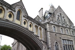 View of the cathedral church of Christ, Dublin, Ireland Stock Images
