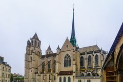 The cathedral in Dijon Royalty Free Stock Photo