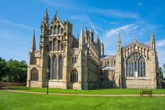 A Cathedral in Ely, Cambridgeshire, UK Royalty Free Stock Photo
