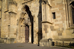 View of cathedral entry Royalty Free Stock Image