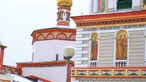View of Cathedral of the Epiphany in Irkutsk stock video footage