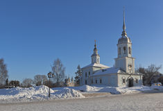 View of the Cathedral hill and Temple Alexander Nevsky in the city of Vologda Royalty Free Stock Images