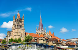 View of the Cathedral of Lausanne Royalty Free Stock Image