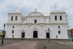 View of a cathedral in Leon, Nicarag. Ua royalty free stock image