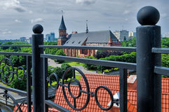 View on Cathedral from lighthouse. Kaliningrad Royalty Free Stock Image