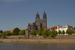 View of Cathedral of Magdeburg, Germany Stock Photos