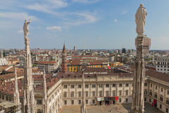 View from cathedral Milan, Italy Royalty Free Stock Photos