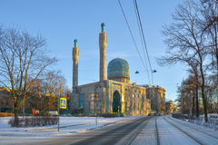 View of the cathedral mosque in St. Petersburg Stock Photo