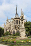 View of Cathedral Notre Dame de Paris Royalty Free Stock Photos