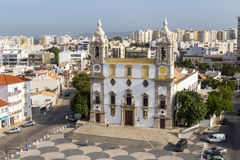 View on Cathedral in Old Town of Faro, Portugal Royalty Free Stock Photography