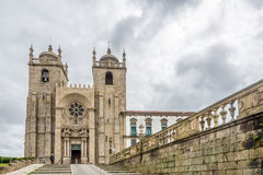 View at the Cathedral of Porto - Portugal. View at the Cathedral of Porto in Portugal Royalty Free Stock Image