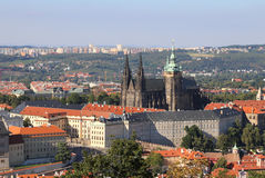 View of the Cathedral and Prague Castle  in the Czech Republic Royalty Free Stock Photography