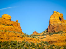 The view of Cathedral Rock in Sedona, Arizona. Royalty Free Stock Image