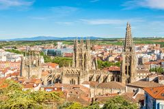 View at the Cathedral of Saint Mary in Burgos - Spain royalty free stock photo