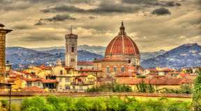 View of the Cathedral of Saint Mary of the Flower in Florence Royalty Free Stock Image