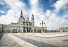 View of the Cathedral of Saint Mary the Royal of La Almudena Stock Images