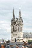 View of the cathedral Saint Maurice, Angers (France) Royalty Free Stock Photo