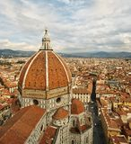 View of the Cathedral Santa Maria del Fiore. In Florence, Italy Royalty Free Stock Photography