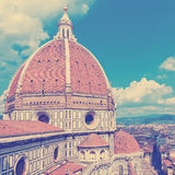 View of the Cathedral Santa Maria del Fiore in Florence, Italy Stock Photography