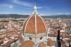 View of the Cathedral Santa Maria del Fiore in Florence, Italy Stock Photos
