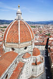 View of the Cathedral Santa Maria del Fiore in Florence, Italy Royalty Free Stock Images