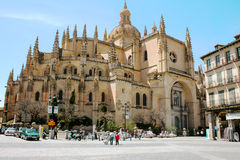 View Cathedral of Segovia Royalty Free Stock Photos
