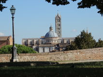 Panorama Siena Cathedral stock photo