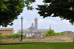 View on the cathedral, siena italy Stock Photography