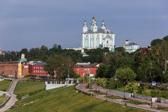 View of the cathedral in Smolensk, Russia. June 2, 2016. Stock Photography