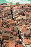 View on the Cathedral Square of Cefalu from the mountain over th Royalty Free Stock Image