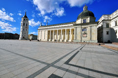 View of the Cathedral square, Vilnius Stock Photography