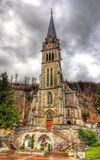 View of Cathedral of St. Florin in Vaduz Royalty Free Stock Images