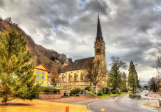 View of Cathedral of St. Florin in Vaduz Stock Photography