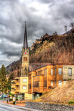 View of Cathedral of St. Florin in Vaduz Royalty Free Stock Image
