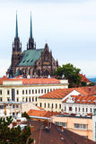 View of Cathedral of St Peter and Paul in Brno Royalty Free Stock Photo