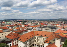 View from Cathedral of st. Peter and st. Paul, Brno, Czech republic Royalty Free Stock Image