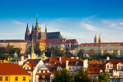 View of the Cathedral of St. Vitus, Prague, Czech Republic. Royalty Free Stock Photography