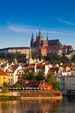 View of the Cathedral of St. Vitus, Prague, Czech Republic. Stock Photos
