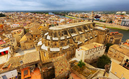View of  Cathedral from Suda castle in Tortosa Royalty Free Stock Photos