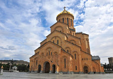 View of the cathedral of Tbilisi Royalty Free Stock Images