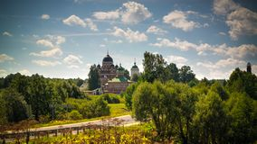 View of the Cathedral of the Vladimir Borodino, Mozhaysk district, Moscow region, Russia royalty free stock images