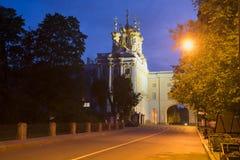 View of the Catherine Palace July night. Tsarskoye Selo Stock Photography