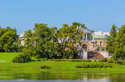 View of Catherine Park in Pushkin in summer day Stock Photo