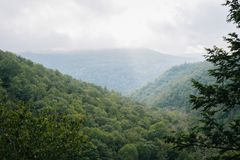 View of the Catskill Mountains, New York.  stock photo