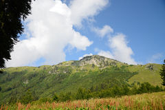View of the Caucasian Range, mountains and forests of Abkhazia Stock Photo
