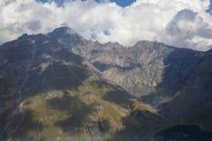 View of Caucasus mountains along  Georgian Military Road. Republic of Georgia royalty free stock photos