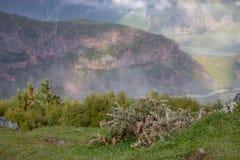 View of Caucasus mountains along  Georgian Military Road. Republic of Georgia royalty free stock photo