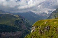 View of Caucasus mountains along  Georgian Military Road. Republic of Georgia stock image